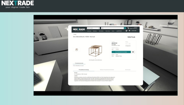 Nextrade announces virtual showrooms with integrated order function